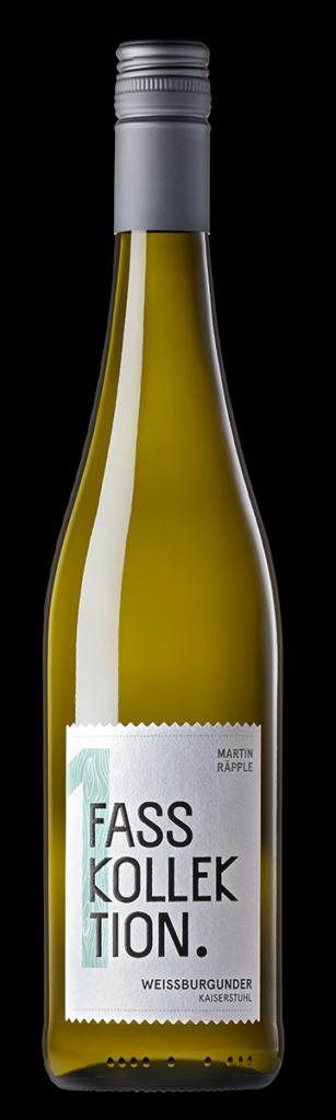 Wein Flasche Weissburgunder Fasskollektion