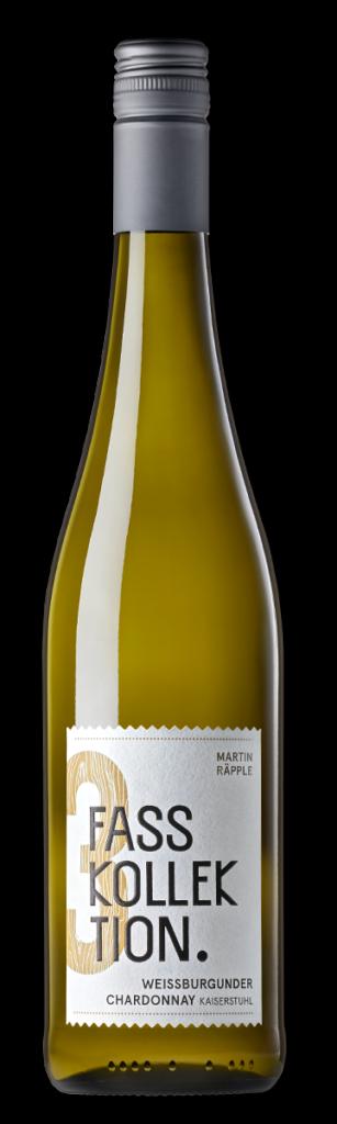 Wein Flasche Weissburgunder Chardonnay Fasskollektion